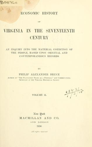 Download Economic history of Virginia in the seventeenth century