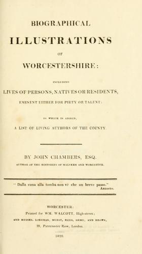 Biographical illustrations of Worcestershire