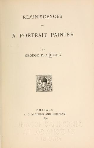 Download Reminiscences of a portrait painter
