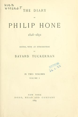 Download The diary of Philip Hone, 1828-1851.