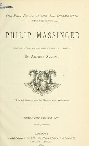 Philip Massinger.