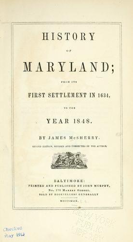 Download History of Maryland