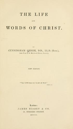 Download The life and words of Christ.