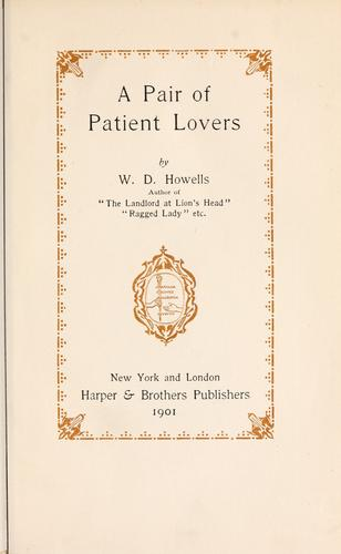 Download A pair of patient lovers.