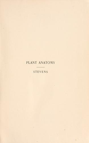 Download Plant anatomy from the standpoint of the development and functions of the tissues, and handbook of micro-technic