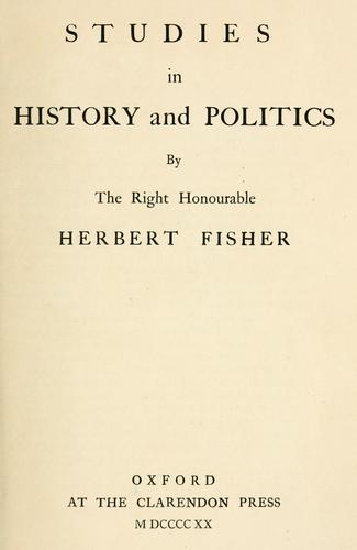 Studies in history and politics