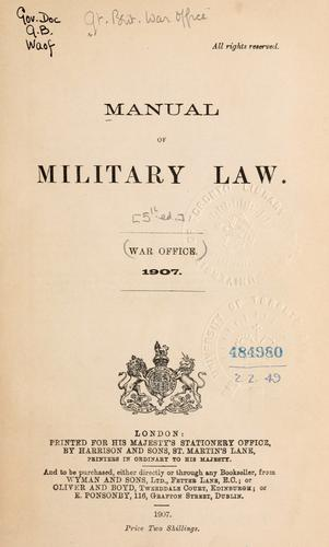 Manual of military law.