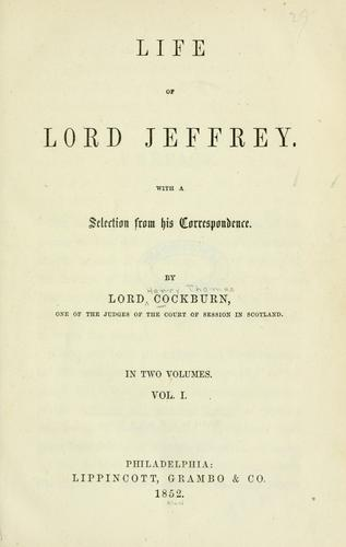 Download Life of Lord Jeffrey