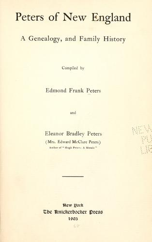 Download Peters of New England