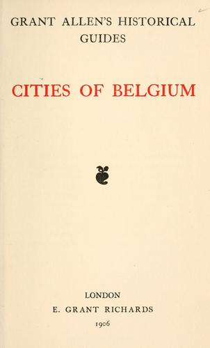 Cities of Belgium.