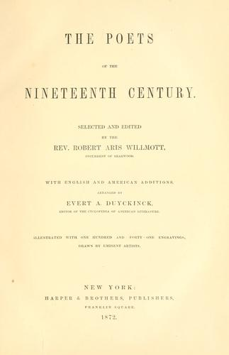 Download The poets of the nineteenth century