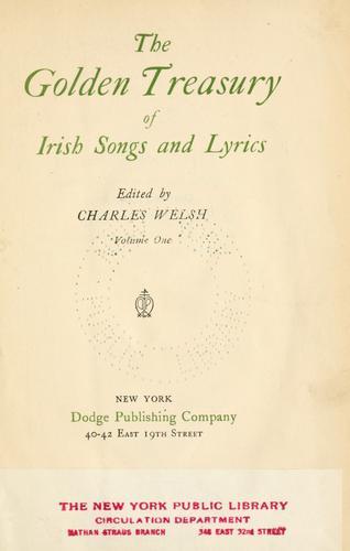 Download The golden treasury of Irish songs and lyrics