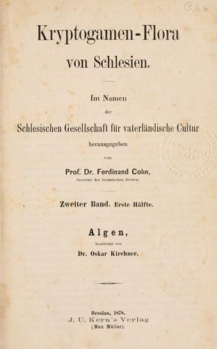 Kryptogamen-Flora von Schlesien