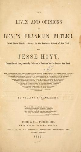 The lives and opinions of Benj'n Franklin Butler