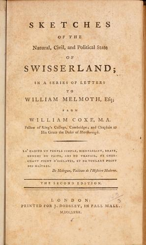 Download Sketches of the natural, civil, and political state of Swisserland