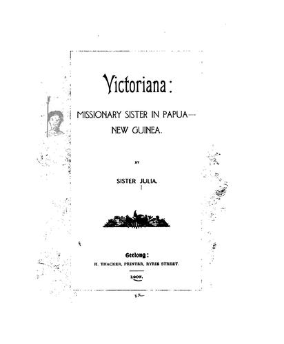 Download Victoriana: missionary sister in Papua, New Guinea