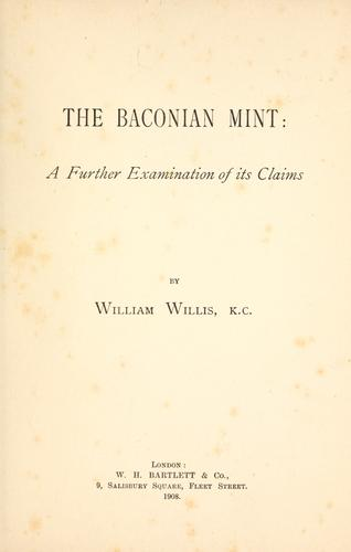 Download The Baconian Mint