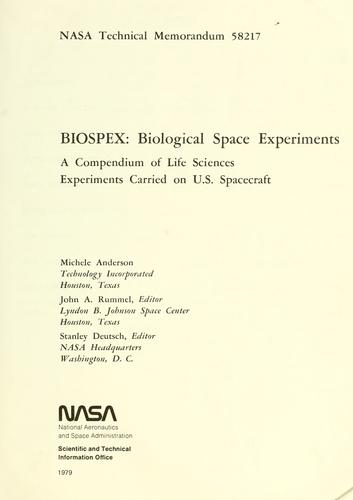 Download BIOSPEX, Biological space experiments