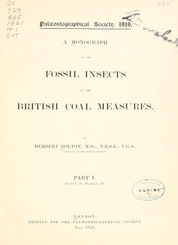 Download A monograph of the fossil insects of the British coal measures