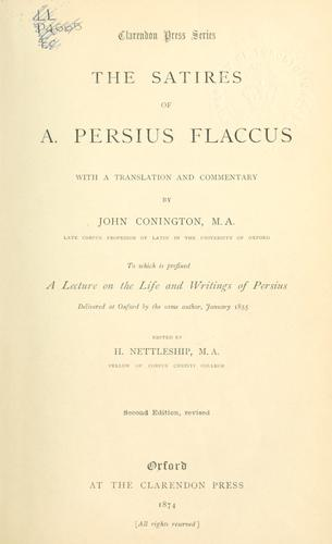 Satiræ by Persius.