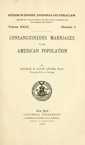 Download Consanguineous marriages in the American population …