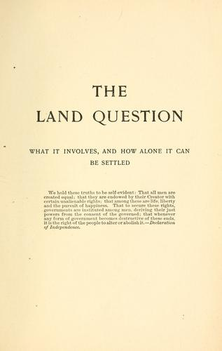 Download The land question