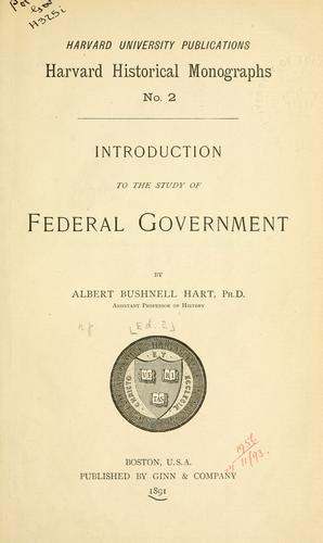 Download Introduction to the study of federal government.