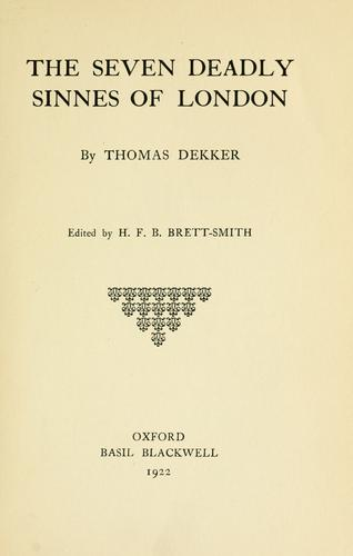 Download The seven deadly sinnes of London