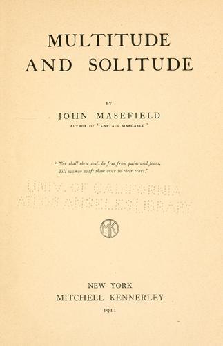 Multitude and solitude