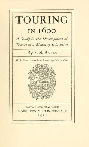 Download Touring in 1600