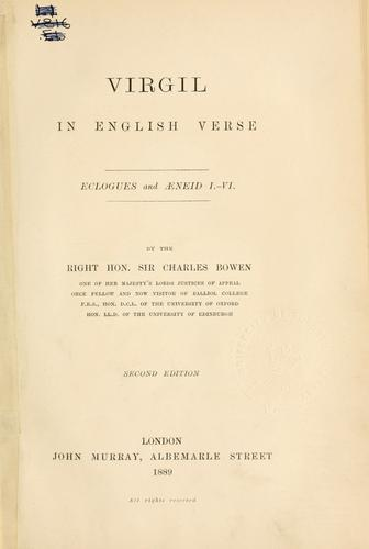 Virgil in English verse by Publius Vergilius Maro
