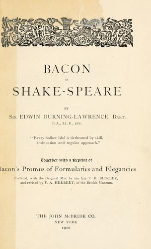 Download Bacon is Shake-speare.