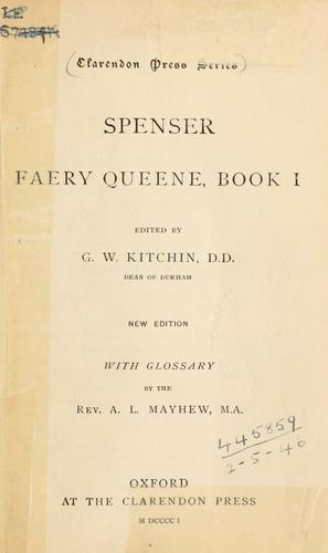 Faery queene, book 1 by Edmund Spenser