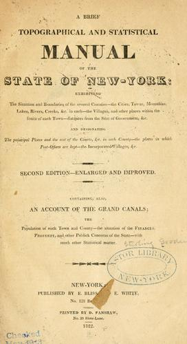 Download A brief topographical and statistical manual of the state of New-York