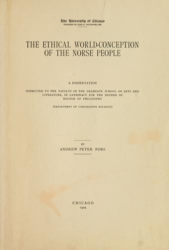 The ethical world-conception of the Norse people.