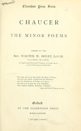 The minor poems.