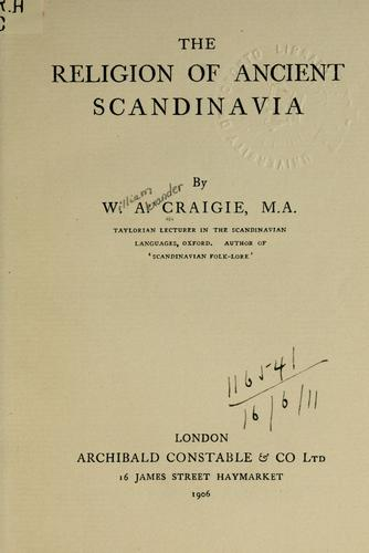 The religion of ancient Scandinavia.