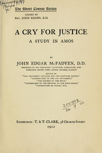 Download A cry for justice
