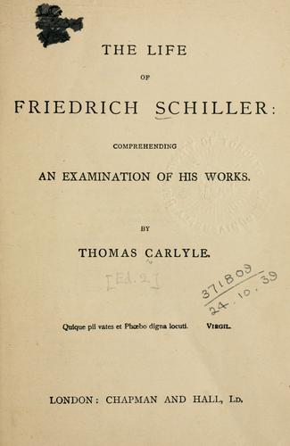 Download The  life of Friedrich Schiller