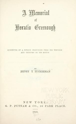 Download A memorial of Horatio Greenough