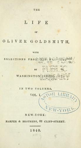 Download The life of Oliver Goldsmith