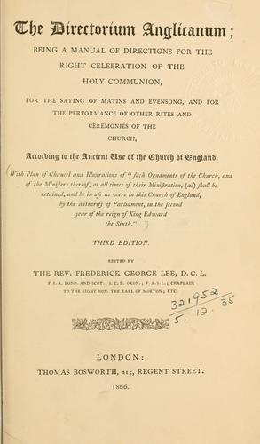 Download The Directorium Anglicanum