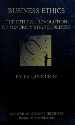 Cover of: Business ethics | Jacques Cory
