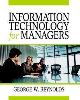 Cover of: Information technology for managers | George Walter Reynolds