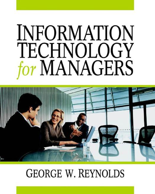 Information technology for managers by George Walter Reynolds