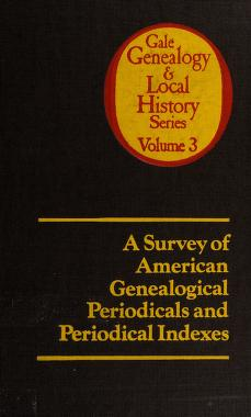 Cover of: A survey of American genealogical periodicals and periodical indexes | Kip Sperry