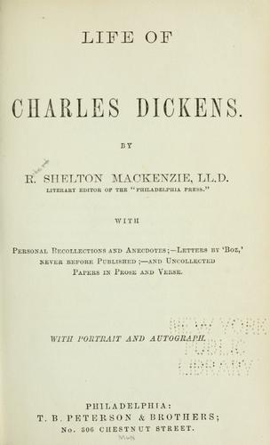 Life of Charles Dickens.