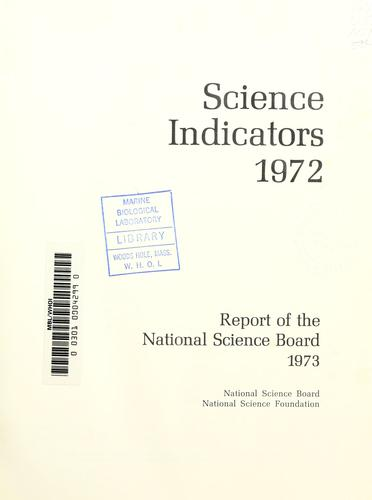 Annual report of the National Science Board by National Science Board (U.S.)