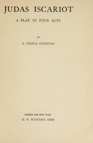 Judas Iscariot by Ernest Temple Thurston
