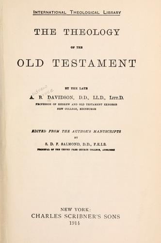 The theology of the Old Testament.
